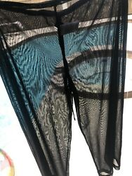 Tommy Bahama Beach Mesh Cover Up Black Size S $24.00