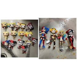 Harley Quinn Huge Lot. Assorted Toys, Funko Pops. Statues,rock Candy,bust,mugs