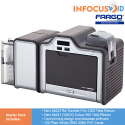 Fargo Hdp5000 Dual Sided Retransfer Id Card/badge Printer With Starter Pack
