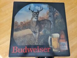 Rare Vintage Budweiser Beer Lighted Sign White Tail Buck 1980s