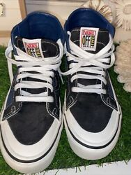 VANS OFF THE WALL High Top Sneakers Men's 7.5 Women's 9 Canvas Leather Inside