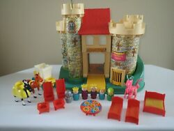 Fisher Price Play Family Little People 993 Castle Complete 1974