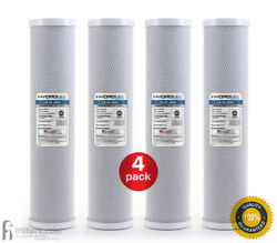 4 Pack - Hydronix Cb-45-2005 Cto Whole House Coconut Shell Carbon Block Water