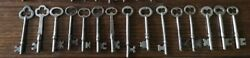 Lot Of 15 Antique Skeleton Keys All Silver All Shiny All Just Waiting For You