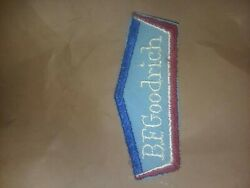 Vintage B.f.goodrich Sew On Patch Emblem Red White ,blue, One Patch Old Stock