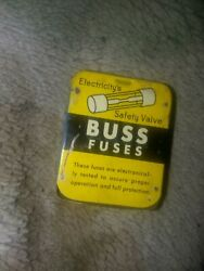 Buss Agy 50 Vintage 9ag Minty All Metal Tins Container Held 5 Fuses But 1 Gone