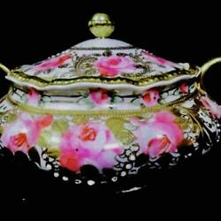 Noritake Large 1891 Early Old Gold Rose Biscuits