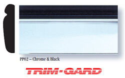 1 X 20and039 Roll Universal Black And Chrome Trim-gard Stick On Body Side Molding