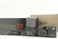 【mint+ In Box】 Contax T2 Limited Black 35mm Point And Shoot Film Camera From Japan
