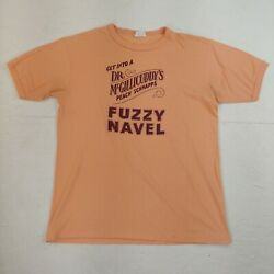 Vintage T-shirt Dr Mcgillicuddyand039s Peach Schnapps Fuzzy Navel Alcohol Mix Drink L