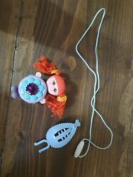 Galoob Sweet Secrets Gleamie Ginger Blue Doll Necklace Clip 1984 1st Release