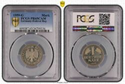 1 Dm Currency Coin 1959 G Proof Pcgs Certified Pr65cam Only 20 Ex