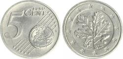 5 Cent Probe 2003 A Germany Unmagnetisch Cu-ni Mint State