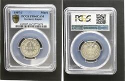 1 Mark Currency Coin J.17 1907j Proof Proof Pcgs Pr66cam
