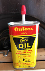 Vintage Outers Gun Oil Tin 3 Fld Oz Can New Old Stock Unopened Tin Nos