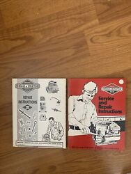 Briggs And Stratton Service And Engine Repair Instructions Manual Lot Of 2