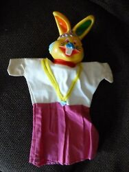 Vintage Rare Hand Puppet - Punch And Judy - Rabbit