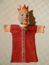 Vintage Rare Hand Puppet - Punch And Judy - King