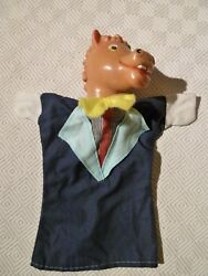 Vintage Rare Hand Puppet - Punch And Judy - Horse