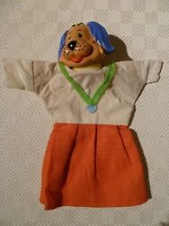 Vintage Rare Hand Puppet - Punch And Judy - Dog