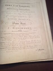 Gems A La Paganini Book 2 By I Moscheles Signed Music Circa 1840's