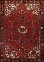 Vintage Geometric Oriental Traditional Area Rug Wool Hand-knotted 10x13 Carpet