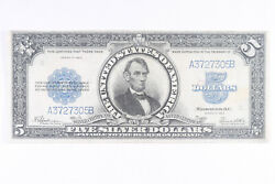 1923 5 Silver Certificate Lincoln Port Hole Note Raw Vf Ww337