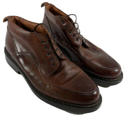 Johnson And Murphy Passport Leather Chucka Boot Dress Shoes Men 11 Made In Italy