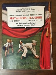 Army All-stars V Ny Giants 1942 Army Relief Game Program Polo Grounds