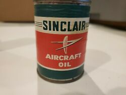 Vintage Sinclair Aircraft Airplane Motor Oil Can Coin Bank Paper Label Gas Oil