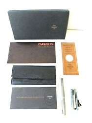 Parker 75 Cisele Fountain Pen Sterling Silver Usa First Model