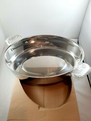 Tupperware New Chef Series Oval 11x16 Stainless Steel Roaster Pan
