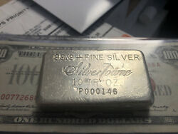 Rare Vintage Silvertowne 10 Ounce Silver Bar. Low Serial Number.most Were Melted