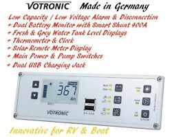 Water Tank Level Monitor Solar Display Battery Monitor Protect Thermometer Clock