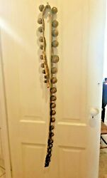 Antique 1800s Set Of 30 Brass Sleigh Bells Antique Hb 0 - 12 Ornate 75 Leather