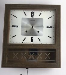Antique Vintage Ansonia Wood Wall Clock Japan 1969 - Needs Repair And Parts