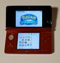 Nintendo 3ds Fire Red With Pokemon Alpha Sapphire And Extras Same Day Shipping