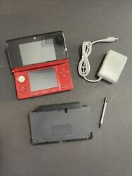 Nintendo 3ds Handheld System - Flame Red Ctr-001 - W/ Charger
