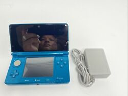 Nintendo 3ds Portable Gaming Console - Aqua Blue With Charger Tested