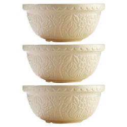New Mason Cash In The Forest Mixing Bowl Fox Cream Set 3pce