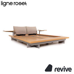 Ligne Roset Wood Futon Double Bed 63x78 11/16in Bed Incl. Slatted Frame Incl. 2x