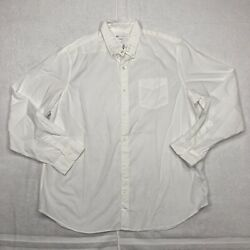 NEW Gap Button Up Shirt Adult Extra Large White Long Sleeve Cotton Casual Mens $11.99