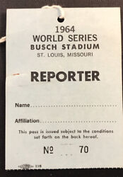 1964 World Series Pass Gm 7 Mickey Mantle Last Hr 18 Tops Babe Ruth Record Ex