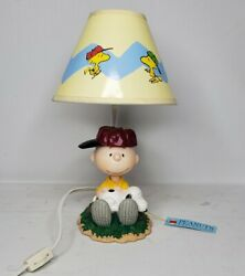 Vintage Peanuts Westland 8265 Charlie Brown And Snoopy Lamp, Excellent Condition