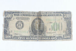 1932 500 Federal Reserve Note Raw Ag Details Ww361