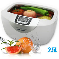 2.5l Commercial Timer Ultrasonic Cleaner For Baby Bottle Jewelry Fruits Cleaning