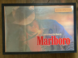 Vintage Marlboro Lighted Sign Store Display 1960s Mirror Sign 32 X 22 Works