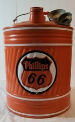 Vintage Phillips 66 Lubericants 5 Gallon Can Gas Station Oil Shield Logo Sign