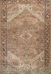 Vintage Muted Geometric Traditional Oriental Area Rug Wool Hand-knotted 11x13