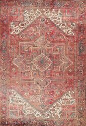 Vintage Geometric Oriental Area Rug Hand-knotted Traditional Wool 10x13 Carpet